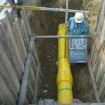 ①低圧ガスPE(ポリエチレン)管配管工事
